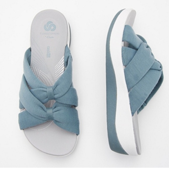 CLOUDSTEPPERS by Clarks Jersey Slide Sandals